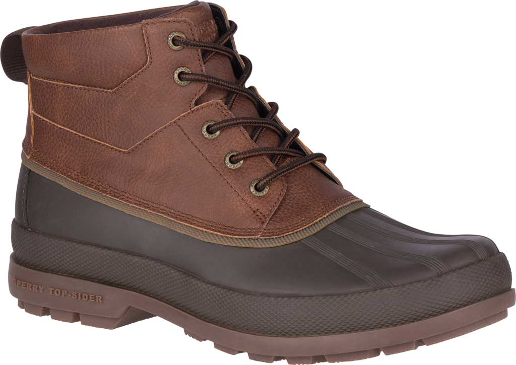 Men's Sperry Top-Sider Cold Bay Chukka Duck Boot, Brown Leather/Coffee Rubber, large, image 1