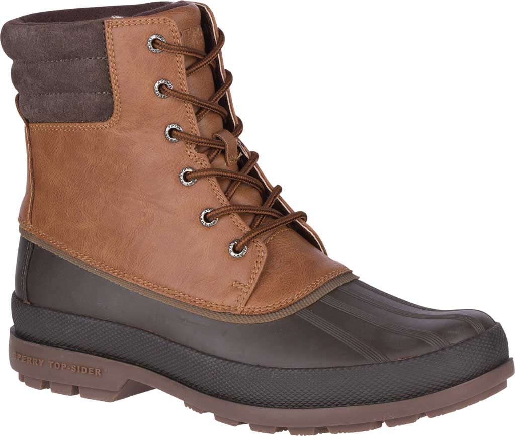 Men's Sperry Top-Sider Cold Bay 2 Duck Boot, Tan Leather/Brown Rubber, large, image 1