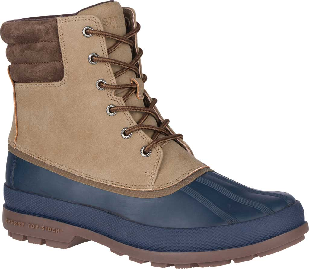 Men's Sperry Top-Sider Cold Bay 2 Duck Boot, Taupe Leather/Navy Rubber, large, image 1