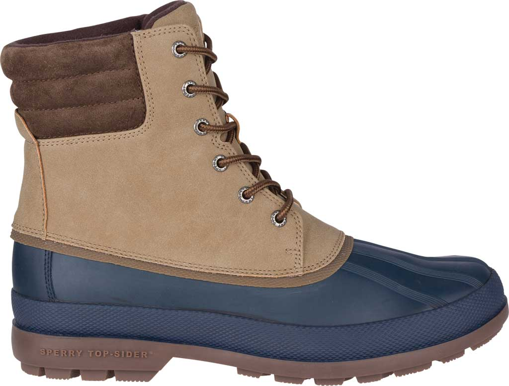 Men's Sperry Top-Sider Cold Bay 2 Duck Boot, Taupe Leather/Navy Rubber, large, image 2