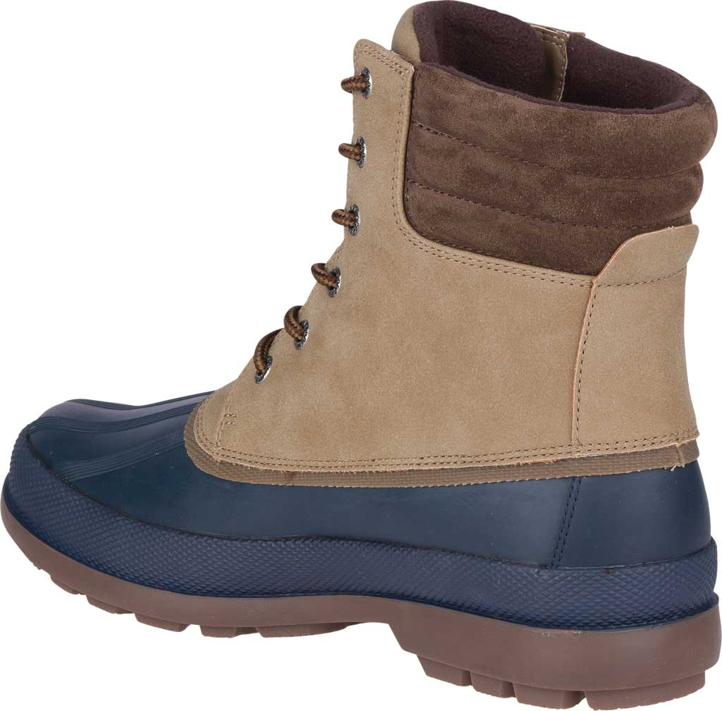 Men's Sperry Top-Sider Cold Bay 2 Duck Boot, Taupe Leather/Navy Rubber, large, image 4