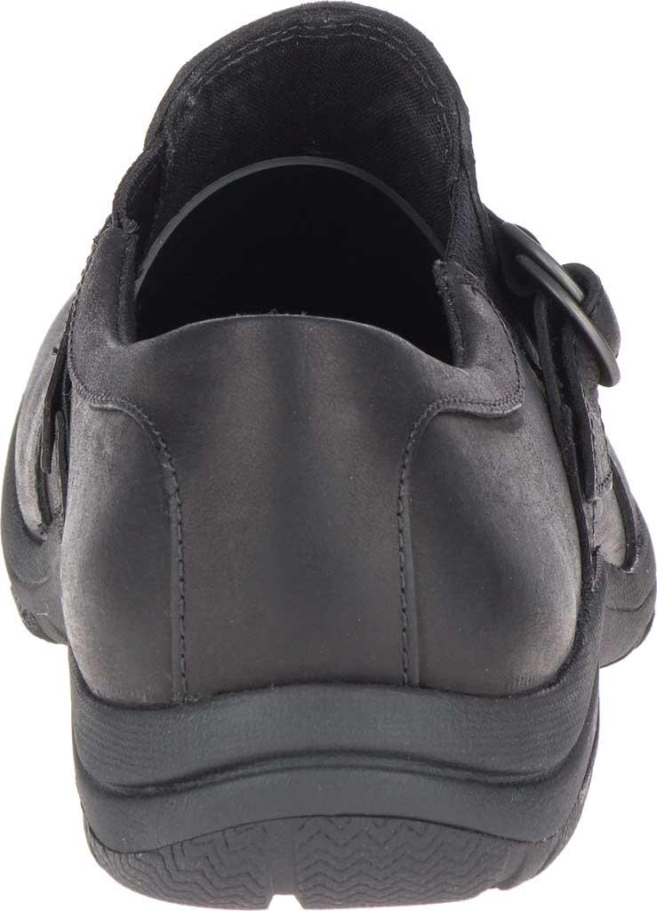 Women's Merrell Dassie Stitch Buckle Slip-On, Black Full Grain Leather, large, image 4