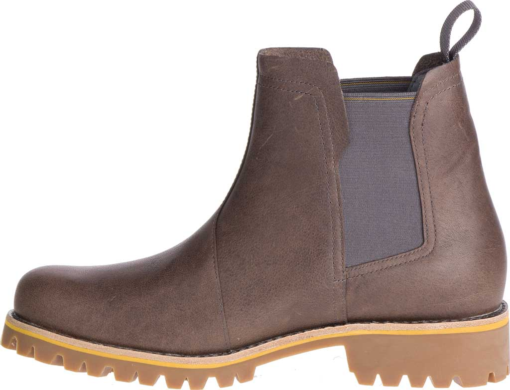 Women's Chaco Fields Chelsea Boot, Fossil Full Grain Leather, large, image 3