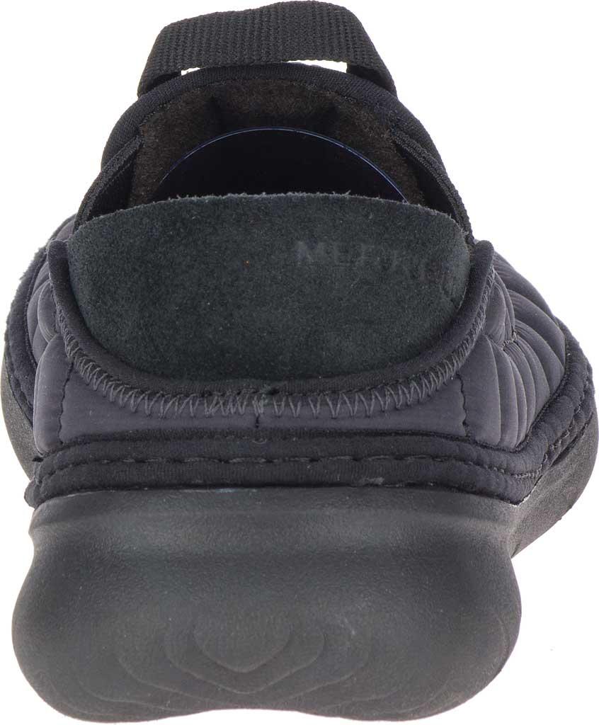 Women's Merrell Hut Moc Slip On, Triple Black Quilted Nylon, large, image 4