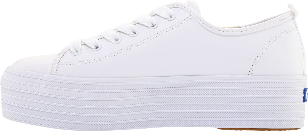 Women's Keds Triple Up Platform Sneaker, White Leather, large, image 3