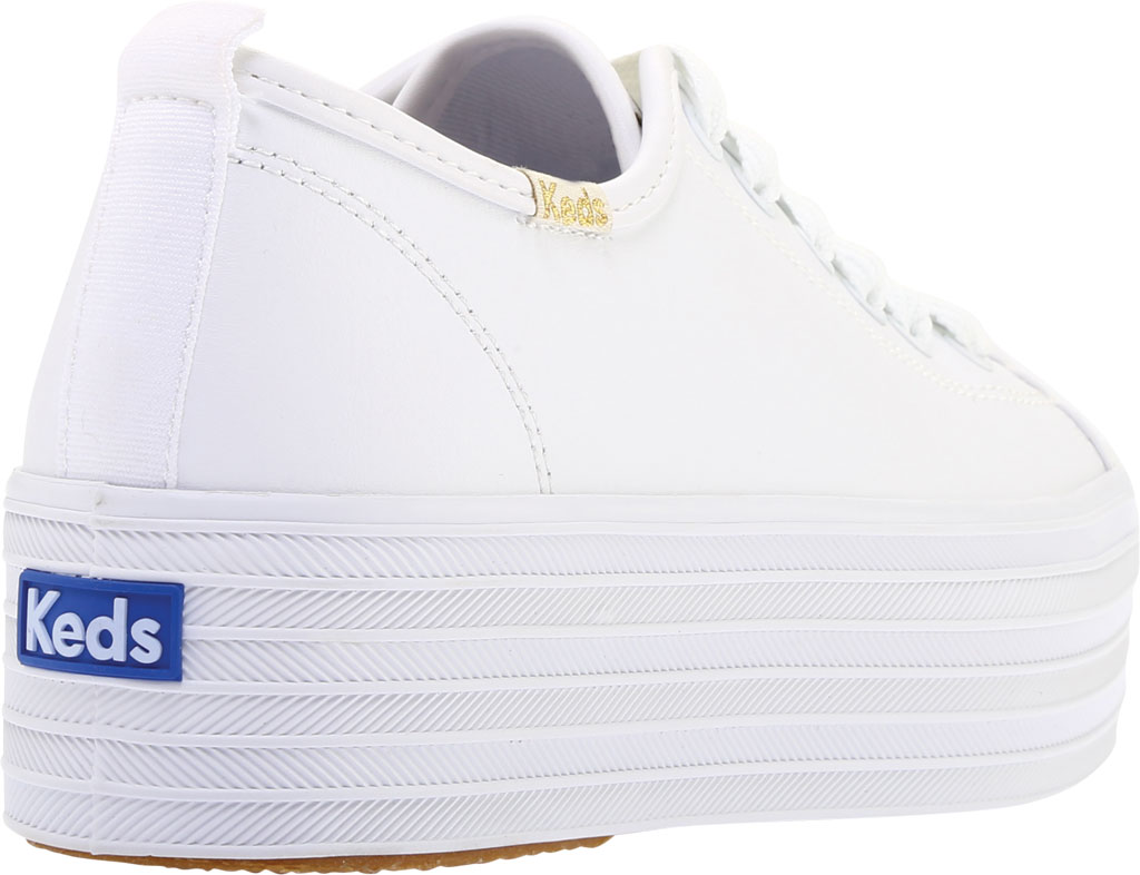 Women's Keds Triple Up Platform Sneaker, White Leather, large, image 4