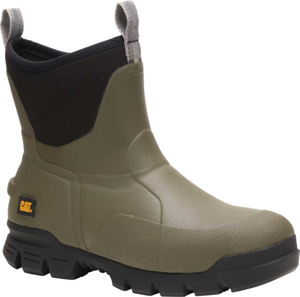 """Caterpillar Stormers 6"""" Waterproof Rubber Boot, Olive Night Rubber/Neoprene, large, image 1"""