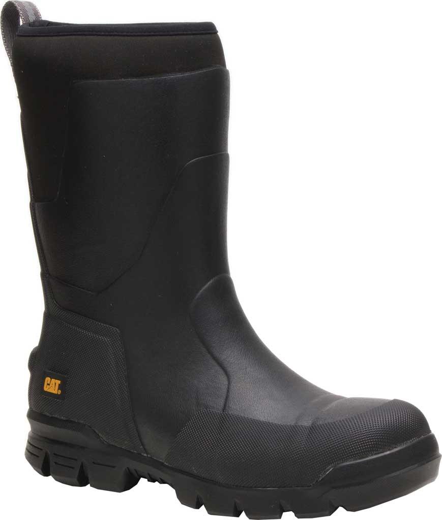 "Caterpillar Stormers 11"" Waterproof Steel Toe Rubber Boot, Black Rubber/Neoprene, large, image 1"