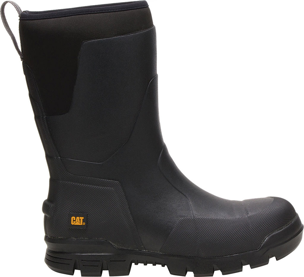 "Caterpillar Stormers 11"" Waterproof Steel Toe Rubber Boot, Black Rubber/Neoprene, large, image 2"