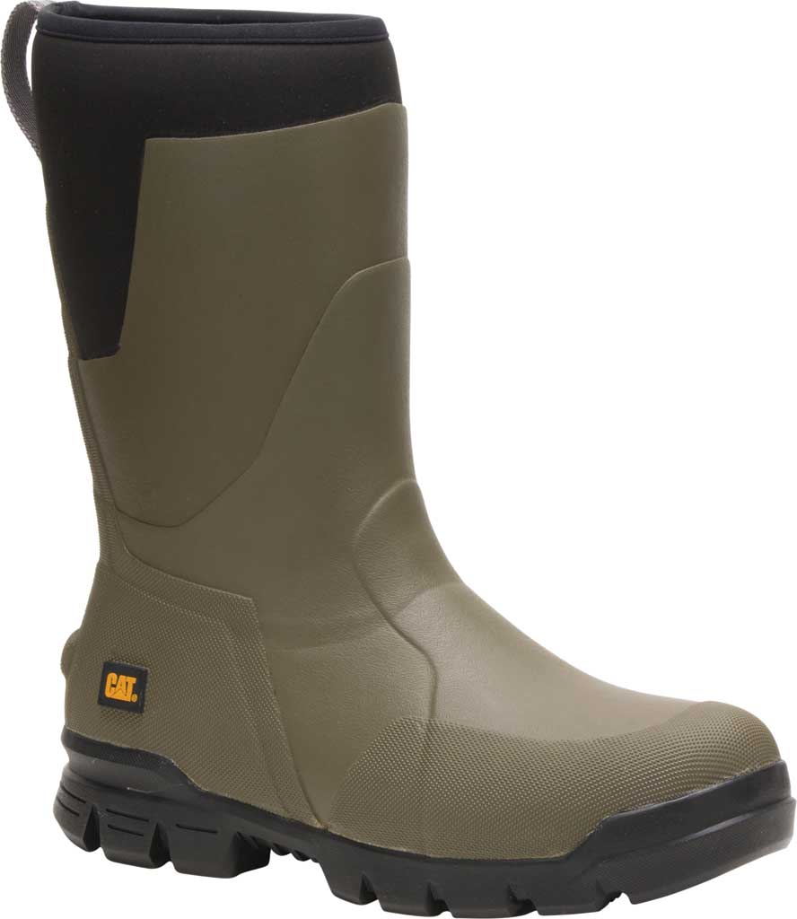 """Caterpillar Stormers 11"""" Waterproof Rubber Boot, Olive Night Rubber/Neoprene, large, image 1"""