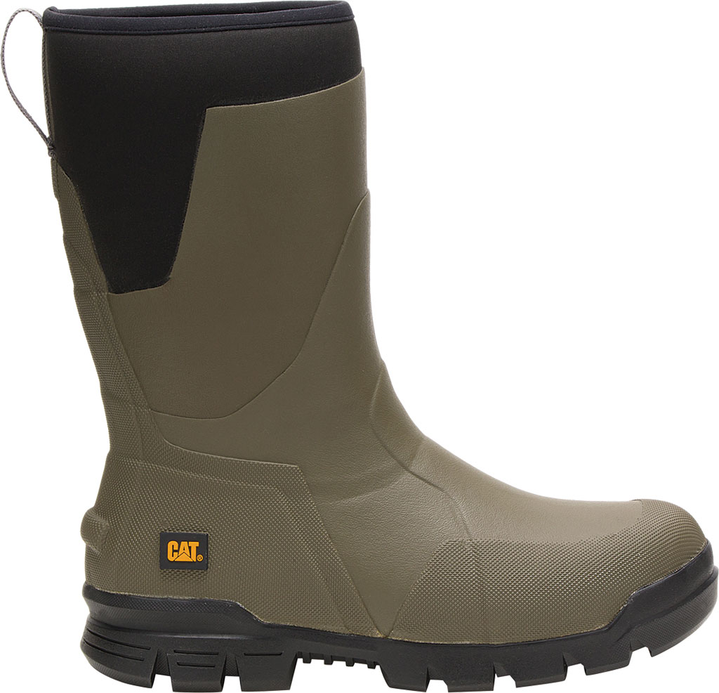 """Caterpillar Stormers 11"""" Waterproof Rubber Boot, Olive Night Rubber/Neoprene, large, image 2"""