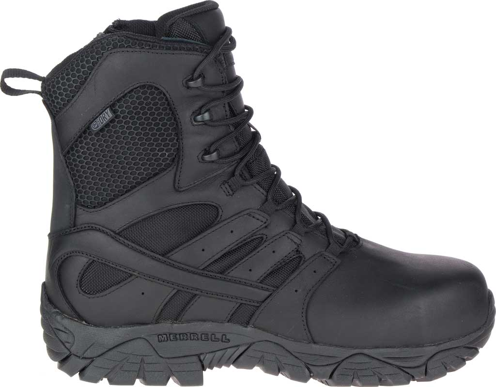 """Men's Merrell Work Moab 2 8"""" Tactical Response WP Composite Toe Boot, Black Waterproof Leather/Textile, large, image 2"""