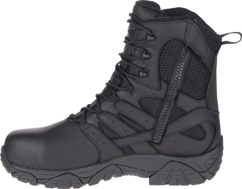 """Men's Merrell Work Moab 2 8"""" Tactical Response WP Composite Toe Boot, Black Waterproof Leather/Textile, large, image 3"""