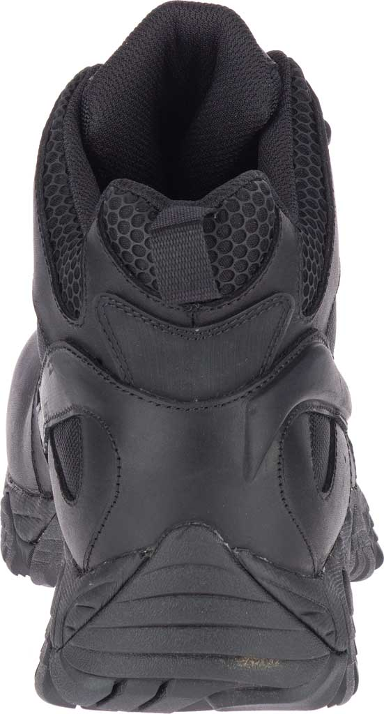 Men's Merrell Work Moab 2 Mid Tactical Response WP Composite Toe Boot, Black Waterproof Leather/Textile, large, image 4