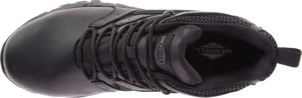 Men's Merrell Work Moab 2 Mid Tactical Response WP Composite Toe Boot, Black Waterproof Leather/Textile, large, image 5