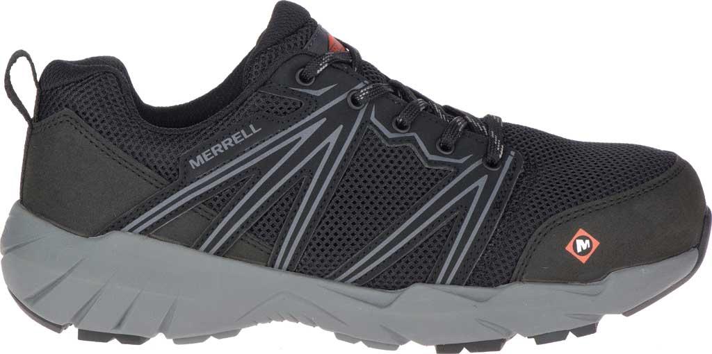 Women's Merrell Work Fullbench Superlite Alloy Toe Work Shoe, Black Mesh/Synthetic, large, image 2