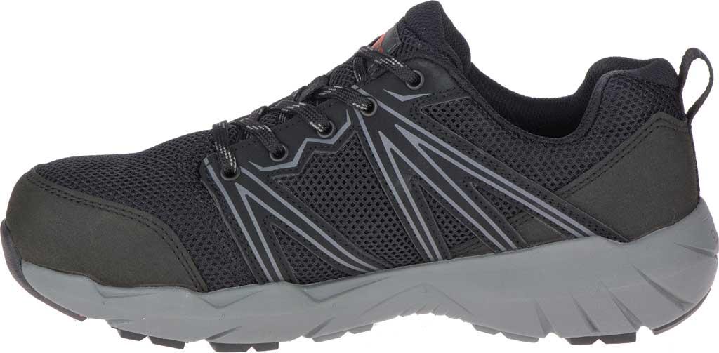 Women's Merrell Work Fullbench Superlite Alloy Toe Work Shoe, Black Mesh/Synthetic, large, image 3