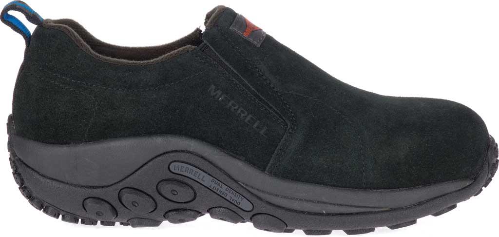 Women's Merrell Work Jungle Moc Alloy Toe Work Shoe, Black Waterproof Suede, large, image 2