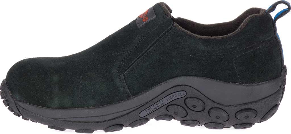 Women's Merrell Work Jungle Moc Alloy Toe Work Shoe, Black Waterproof Suede, large, image 3