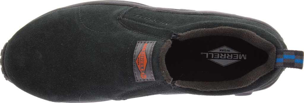 Women's Merrell Work Jungle Moc Alloy Toe Work Shoe, Black Waterproof Suede, large, image 5