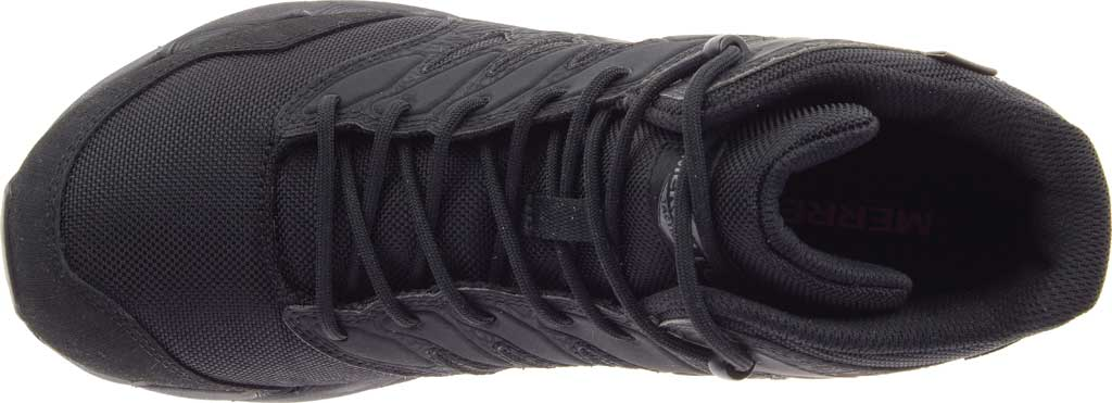 Men's Merrell Work Agility Peak Mid Tactical Waterproof Boot, Black Waterproof Ballistic Mesh, large, image 5