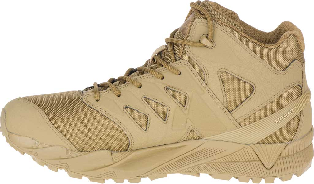 Men's Merrell Work Agility Peak Mid Tactical Waterproof Boot, Coyote Waterproof Ballistic Mesh, large, image 3