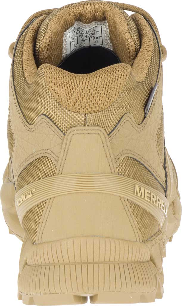Men's Merrell Work Agility Peak Mid Tactical Waterproof Boot, Coyote Waterproof Ballistic Mesh, large, image 4