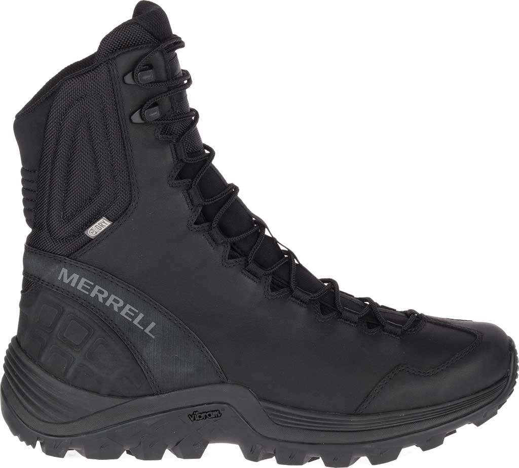 Men's Merrell Work Thermo Rogue Tactical Waterproof Ice+ Snow Boot, Black Waterproof Leather/Ripstop Textile, large, image 2
