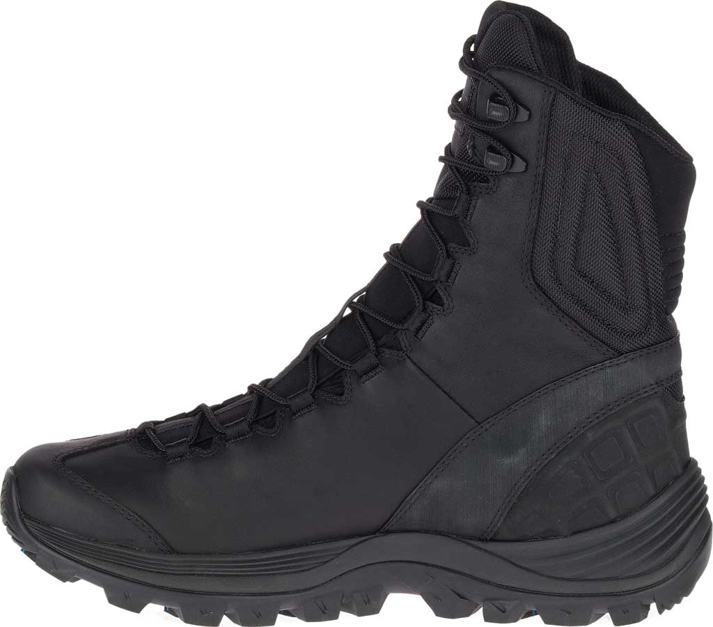 Men's Merrell Work Thermo Rogue Tactical Waterproof Ice+ Snow Boot, Black Waterproof Leather/Ripstop Textile, large, image 3
