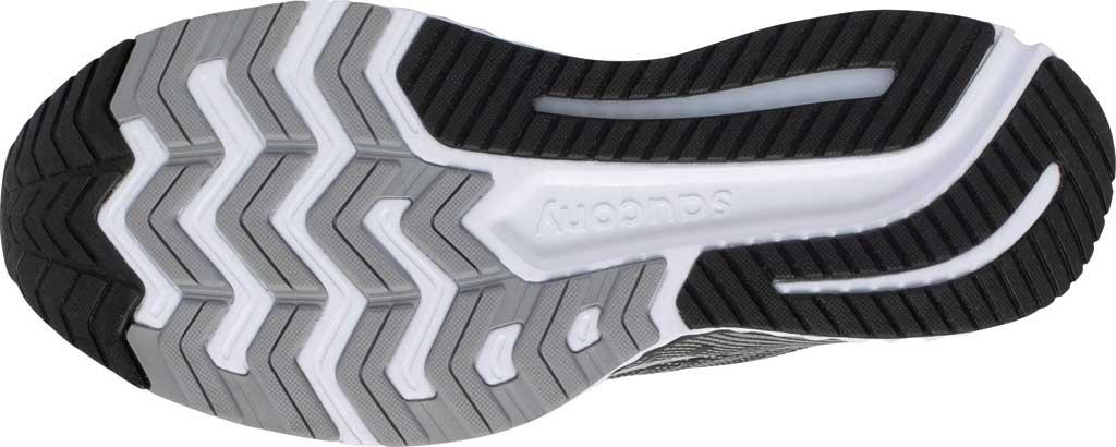 Men's Saucony Guide 13 Running Sneaker, Black/White, large, image 5