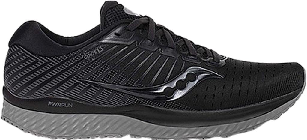 Men's Saucony Guide 13 Running Sneaker, Blackout Engineered Mesh, large, image 2