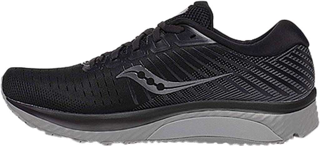 Men's Saucony Guide 13 Running Sneaker, Blackout Engineered Mesh, large, image 3