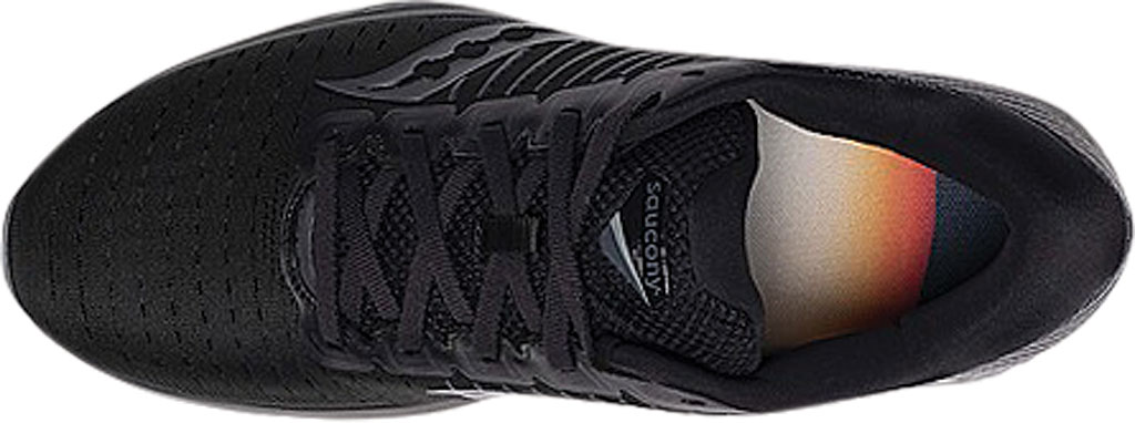 Men's Saucony Guide 13 Running Sneaker, Blackout Engineered Mesh, large, image 4