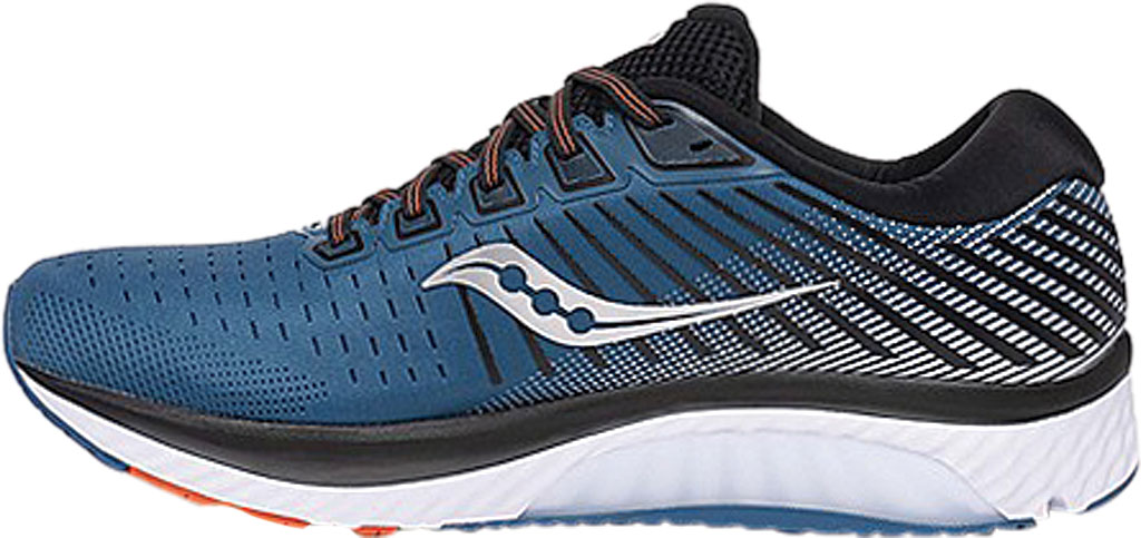 Men's Saucony Guide 13 Running Sneaker, Blue/Silver Engineered Mesh, large, image 3