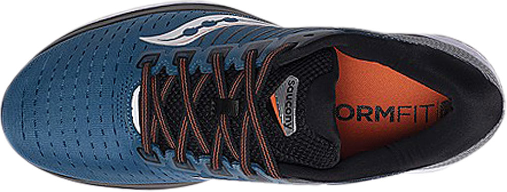 Men's Saucony Guide 13 Running Sneaker, Blue/Silver Engineered Mesh, large, image 4