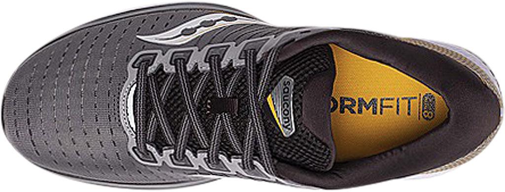 Men's Saucony Guide 13 Running Sneaker, Grey/Yellow Engineered Mesh, large, image 4