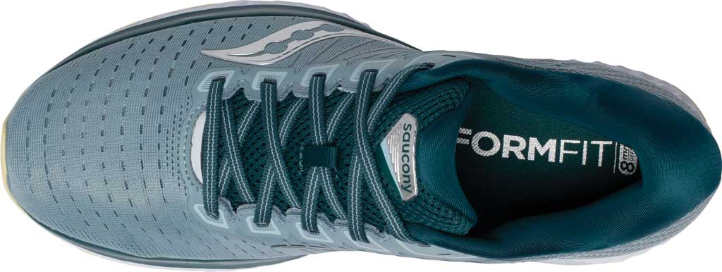 Men's Saucony Guide 13 Running Sneaker, Mineral/Deep Teal, large, image 4