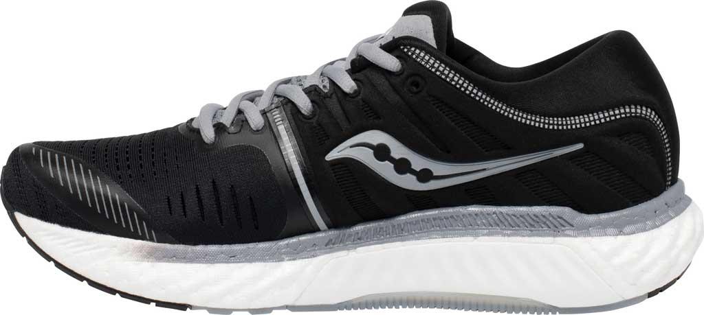 Men's Saucony Hurricane 22 Running Sneaker, Black/White, large, image 3