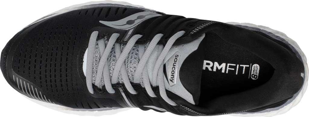 Men's Saucony Hurricane 22 Running Sneaker, Black/White, large, image 4