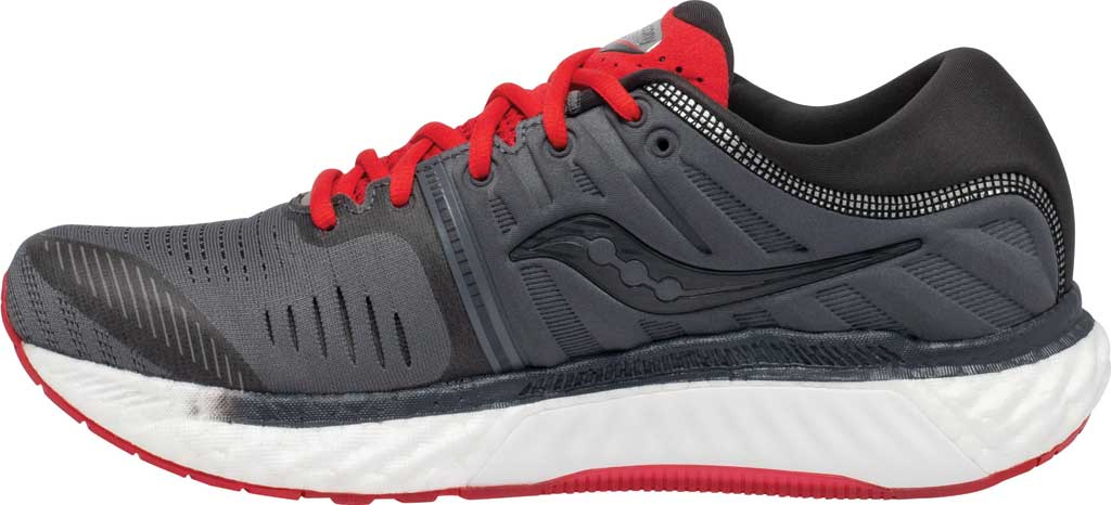 Men's Saucony Hurricane 22 Running Sneaker, Charcoal/Red, large, image 3