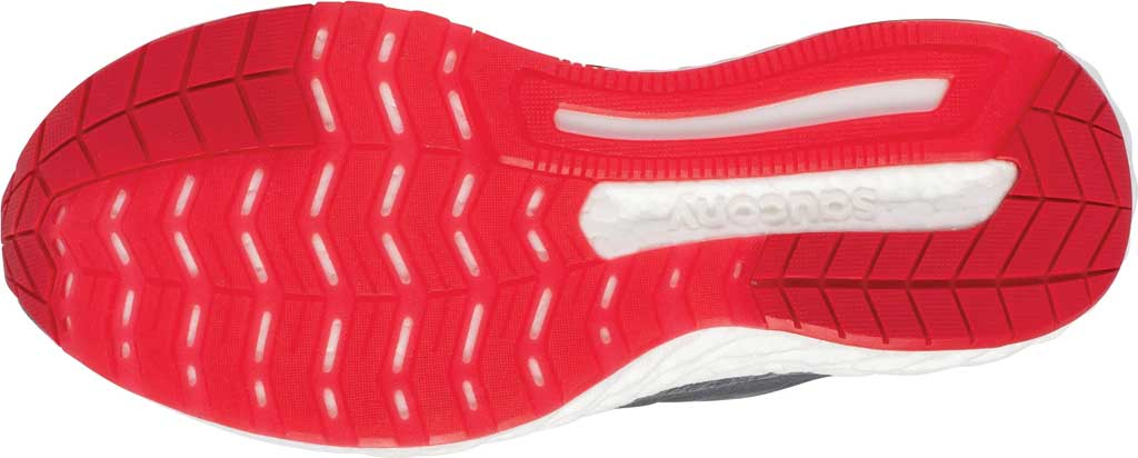 Men's Saucony Hurricane 22 Running Sneaker, Charcoal/Red, large, image 5
