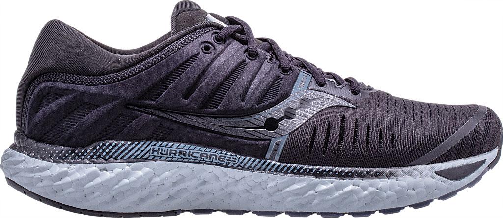 Men's Saucony Hurricane 22 Running Sneaker, Blackout Engineered Mesh, large, image 1