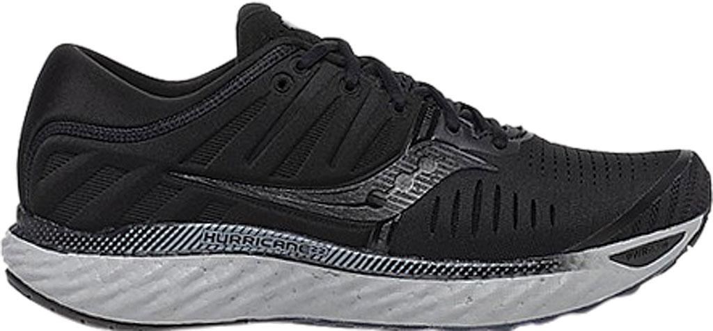 Men's Saucony Hurricane 22 Running Sneaker, Blackout Engineered Mesh, large, image 2