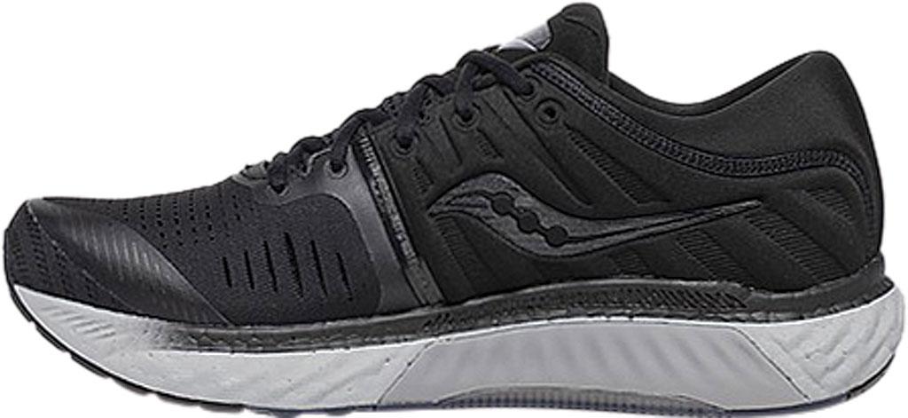 Men's Saucony Hurricane 22 Running Sneaker, Blackout Engineered Mesh, large, image 3