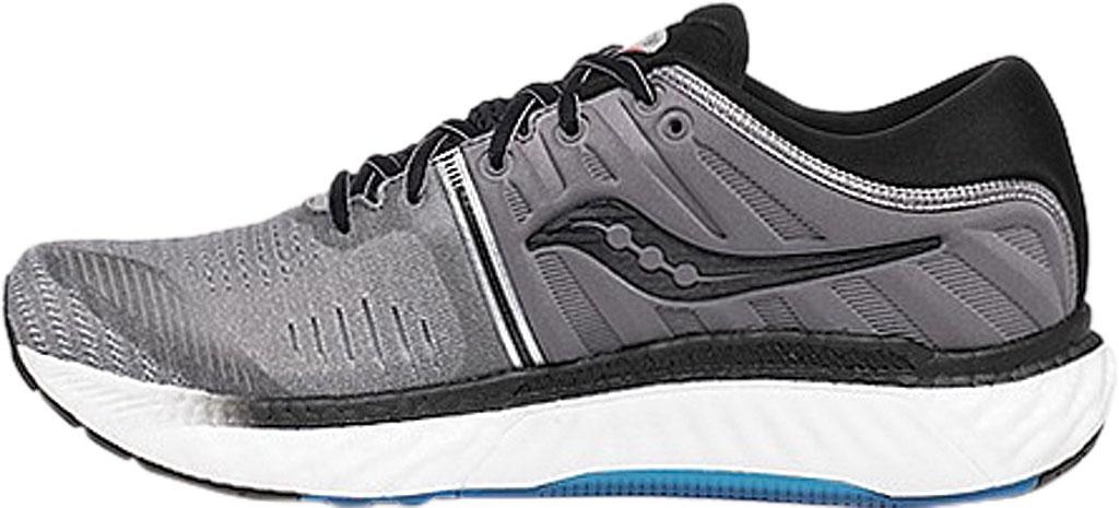 Men's Saucony Hurricane 22 Running Sneaker, Grey/Black Engineered Mesh, large, image 3
