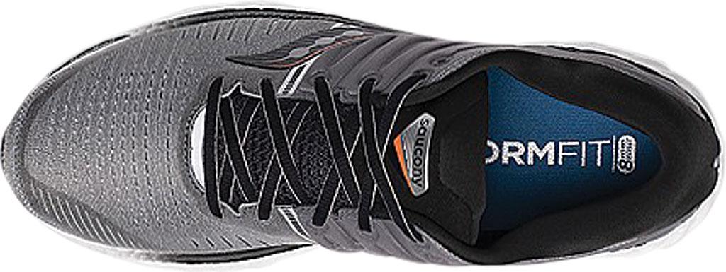 Men's Saucony Hurricane 22 Running Sneaker, Grey/Black Engineered Mesh, large, image 4