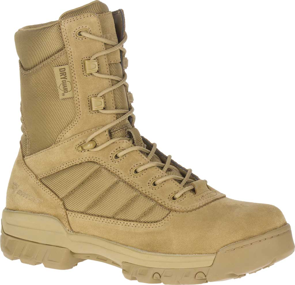 """Men's Bates 8"""" Tactical Sport DRYGuard Side Zip Boot E02208, Coyote Leather/Nylon, large, image 1"""