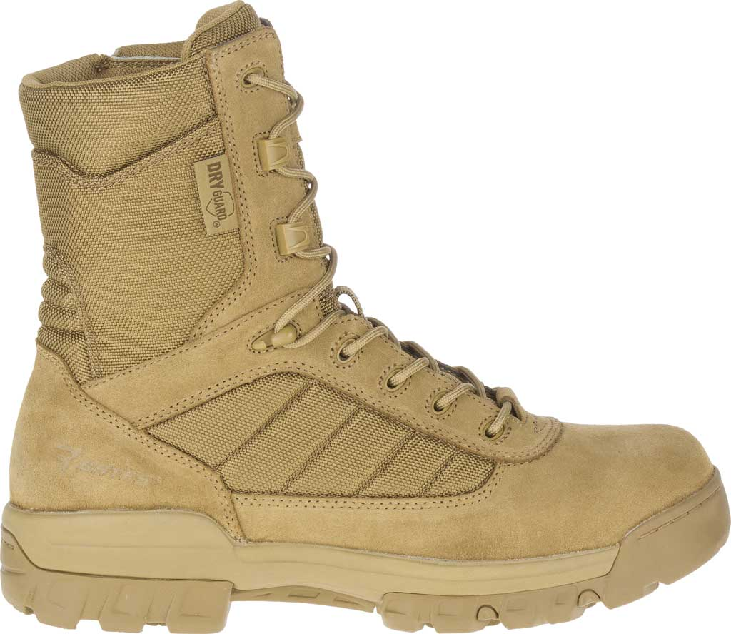 """Men's Bates 8"""" Tactical Sport DRYGuard Side Zip Boot E02208, Coyote Leather/Nylon, large, image 2"""