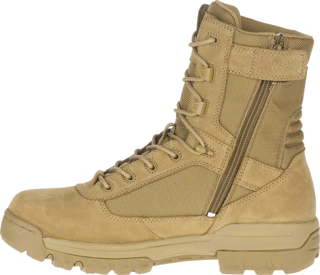 """Men's Bates 8"""" Tactical Sport DRYGuard Side Zip Boot E02208, Coyote Leather/Nylon, large, image 3"""
