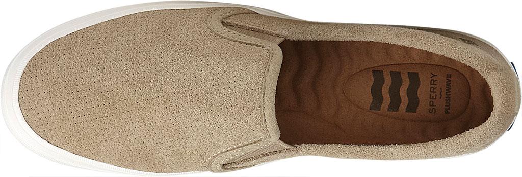 Women's Sperry Top-Sider Crest Twin Gore Plushwave Perf Slip-On Sneaker, Cornstalk Leather, large, image 5